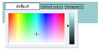 A colour picker window
