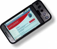 A webulator site being displayed on a google phone